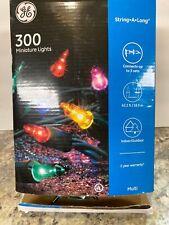 GE String-A-Long Miniature Lights  300 Multi-Color Lights 62.2 Ft