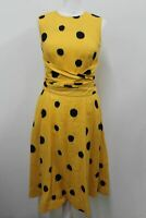 HOBBS Ladies Yellow Linen Sleeveless Carina Twitchill Dress UK8 BNWT RRP129