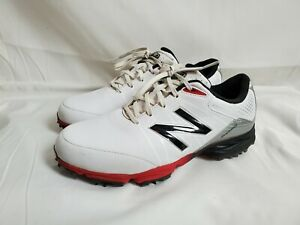New Balance Men's Golf Shoes Size 8 2E EE Wide NBG2004 Waterproof White/Red