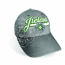 Grey Ireland Baseball Cap With Shamrock Crest