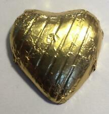 200 GOLD FOIL CHOCOLATE LOVE HEARTS WEDDING FAVOURS VALENTINES