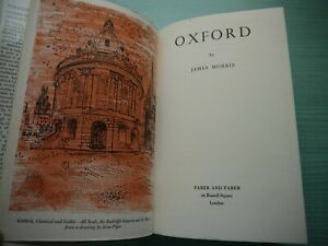 OXFORD by JAMES MORRIS H/BACK D/W 1965 1ST EDITION ILLUST JOHN PIPER