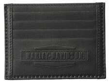 Harley-Davidson Mens Front Pocket Wallet, Debossed Vintage, Black IM7972L-Black
