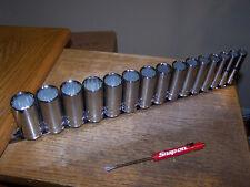 "Blue-Point Tools 3/8"" Drive 15 Piece Deep Metric Socket  Set & Snap-on 10-24mm"