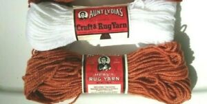Vintage NEW Old Stock Aunt Lydia/'s Heavy Rug Yarn-Rayon//Cotton Antique Gold #565