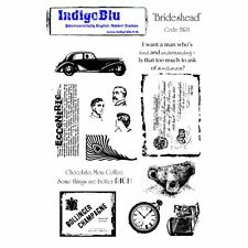 INDIGO BLUE Kay Halliwell Sutton BRIDESHEAD A5 Stamps 13 Stamps Car Camera Bear