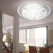 Plafonnier luminaire plafond éclairage métal chromé verre satiné décor couloir