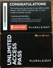 Pluralsight Personal Membership (1 Month) (ONE month)