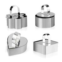 Stainless Steel Baking Mould Cookies Cutter Mousse Cake Mold Cake Decor Tools