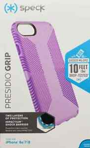 Speck Presidio Grip 10ft Drop Protection Case For iPhone 8 7 6s SE 2020 PRPL#964