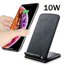 10W Qi Fast Wireless Charger Stand For Huawei Mate 20 Pro iPhone Charging Dock