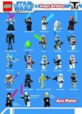 Personalised Birthday Card - Lego Star Wars - Childrens Boys Son Nephew Grandson