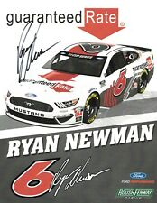 2020 RYAN NEWMAN NASCAR#6 GUARANTEED RATE AUTOGRAPHED SIGNED POSTCARD