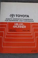 """Toyota HILUX & 4Runner """"Aug. 1990"""" Werkstatthandbuch für Fahrwerk und Karosserie"""