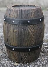 Custom Barrels (2) Rich Wood Grain w Hardware Miniatures 1/24 Scale Diorama Item