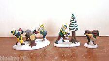 Dept 56 North Pole Woodsmen Elves #51616 NIB (Y376)