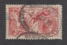 Great Britain Sc 180 used 1919 5sh Seahorses, almost Vf