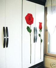 2 RED ROSE ART DECO MURAL WALL PAPER STICKER