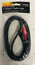 6-Ft. Gold Series Shielded Y-Adapter Audio Cable Radio Shack - NEW