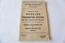 More details for '78 paddington station working arrivals departures timetable railway trip notice