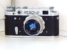 FED-2 35mm USSR Rangefinder Film Camera (copy Leica) + lens industar 26M EXC