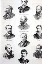 Belgian Painters 1888 WILLEMS PORTAELS VERLAT VERHAS CLAYS WAUTERS PMatted Print