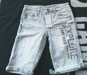 NEU Camp David Skater Jeans Bermuda Shorts Pants W30 W31 W32 W33 W34 W36 W38 W40