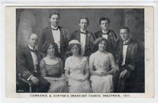 "LAWRENCE & SAWYERS ""SMART-SET CADETS"" PRESTWICK 1911: Ayrshire postcard (C40282)"