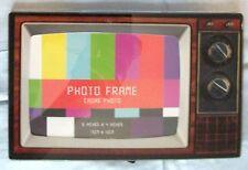 "Retro TV Photo Frame 4"" X 6"" Vtg 1970s Style Glass Picture"