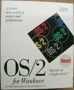 IBM OS/2 Ver 2.1 Windows & OS/2 applications, runs DOS. Excellent Condition