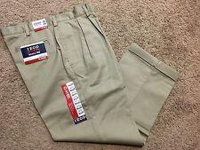 NWT IZOD American Chino Classic-Fit Khaki Double Pleat Pant 34X34 MSRP $50