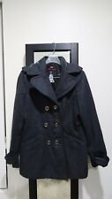 MISS SIXTY M60 Grey Double Breasted Wool Blend Peacoat Jacket Large