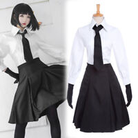 Stray Dogs Akiko Yosano Cosplay Costume School Uniform Gloves Skirt Outfit Suit