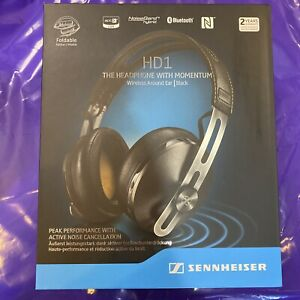BRAND NEW BLACK Sennheiser HD1 Momentum Wireless Around Ear Headphones