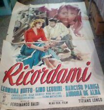 RICORDAMI manifesto 4F originale 1955