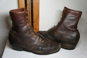 Vintage Danner USA 10-10.5 ? Vtg Leather Packer Work Logging Boots Logger