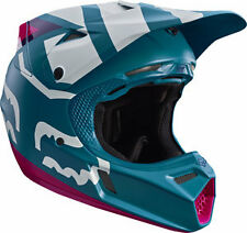 2017 Fox Racing YOUTH V3 Creo Helmet TEAL Motocross MX ATV Off Road 17405-716
