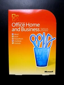Microsoft Office 2010 Home and Business Word Outlook Excel PowerPoint (GENUINE)