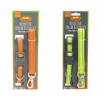 Pooch Products Reflective Pet Dog Collar and Lead Set