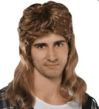MEN CURLY WIG - LIGHT BROWN -SYNTHETIC  HAIR - PERFECT FOR HALLOWEEN PARTY