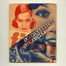 1931 Piet Zwart AMERIKAANSCHE FILMKUNST Avant-Garde DUTCH TypoFoto PhotoMontage