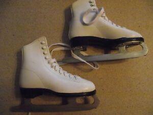 Lange Aries White Ice Skates Size
