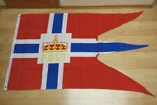 Fahnen Flagge Norwegen Postflagge Hurtigruten - 90 x 150 cm