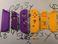 Genuine Nintendo Neon Purple (L) & Neon Orange (R) Joy Con Shells & SL/SR Button