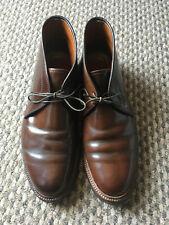 Alden cigar shell cordovan leather chukka boots Horween 13132 Barrie size 9.5E