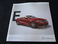 2015 Mercedes Benz E-class Coupe & Cabriolet Conv Catalog E400 E550 US Brochure
