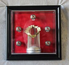 '06 World Series Rings & Mini WS Trophy Display for Cardinals SGA, Display Only!