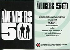 Avengers 50th Anniversary White Gloss Promo Card Rydeclive