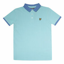 Junior Boys Lyle And Scott Ringer Polo Shirt in Aqua.