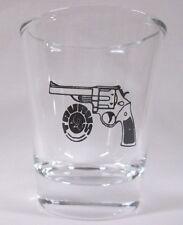 Taurus Guns / Rifles Logo on Clear Shot Glass